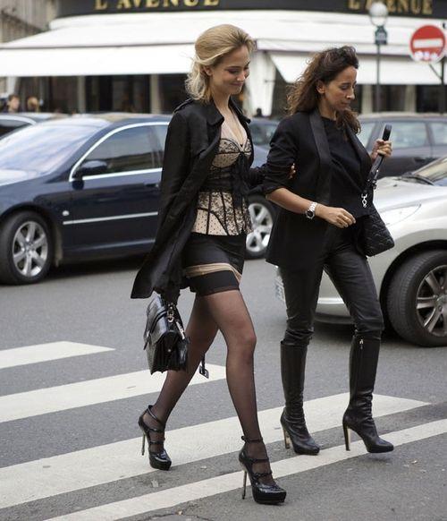 Lingerie crossing street from styledeityinathens blogspot