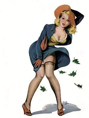 Pinup windy autumn
