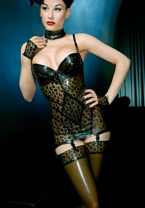 Atsuko leopard minidress