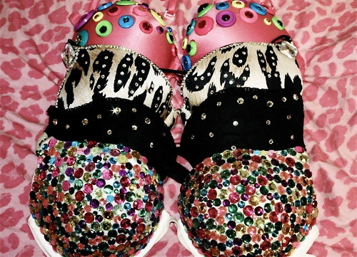 Diy bejeweled bras